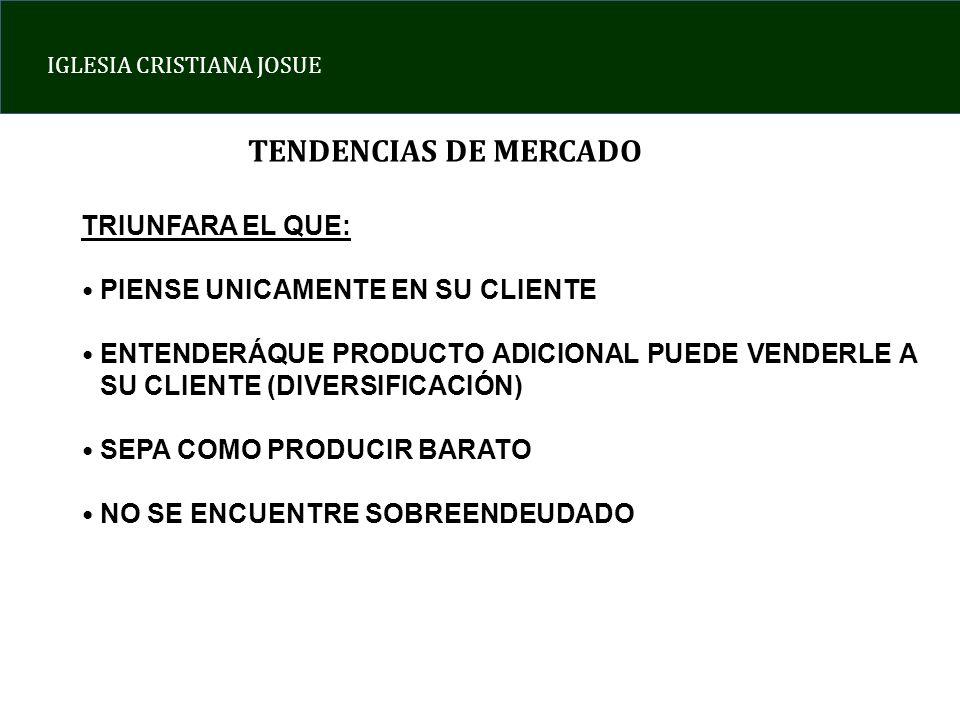 TENDENCIAS DE MERCADO TRIUNFARA EL QUE: