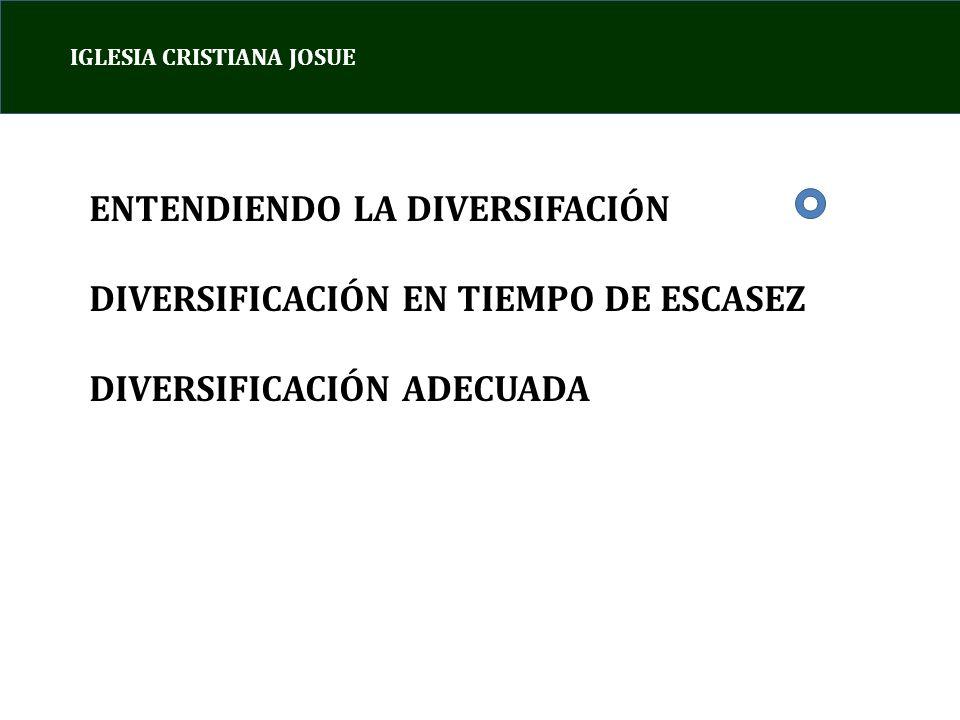 ENTENDIENDO LA DIVERSIFACIÓN DIVERSIFICACIÓN EN TIEMPO DE ESCASEZ