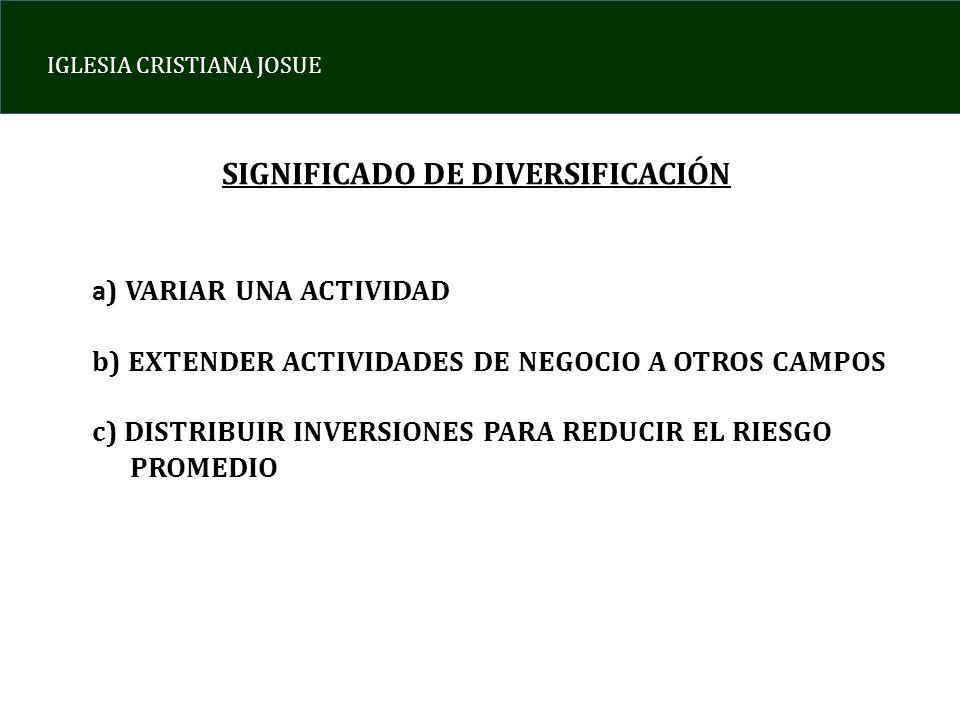 SIGNIFICADO DE DIVERSIFICACIÓN