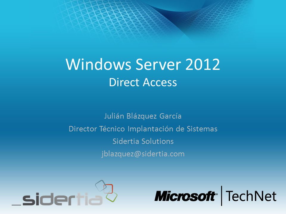 Windows Server 2012 Direct Access