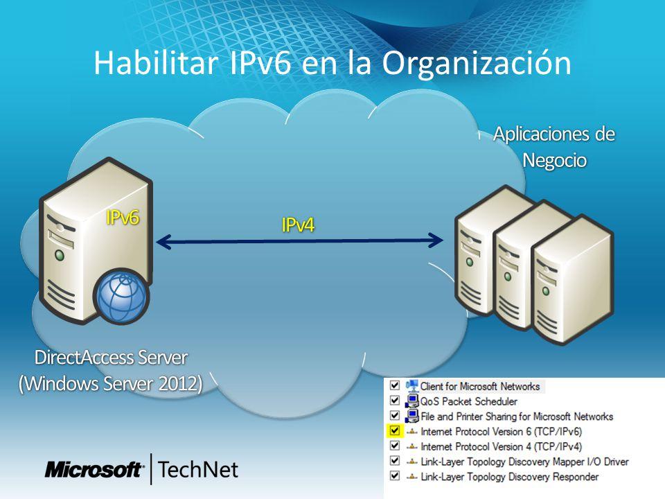 Habilitar IPv6 en la Organización