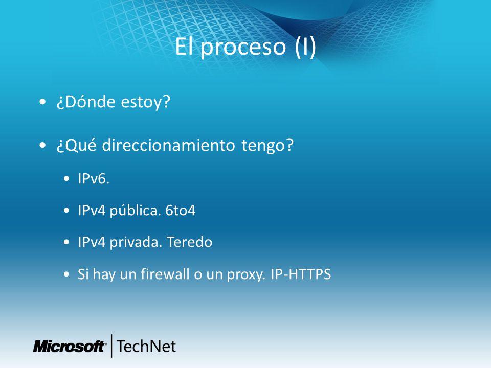 El proceso (I) ¿Dónde estoy ¿Qué direccionamiento tengo IPv6.