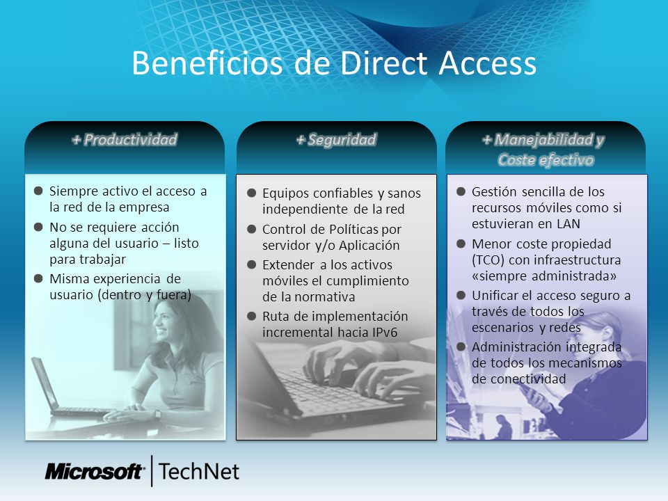 Beneficios de Direct Access
