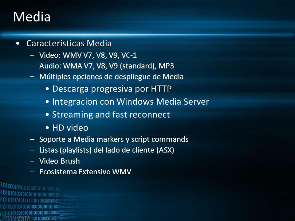 Media Características Media Descarga progresiva por HTTP