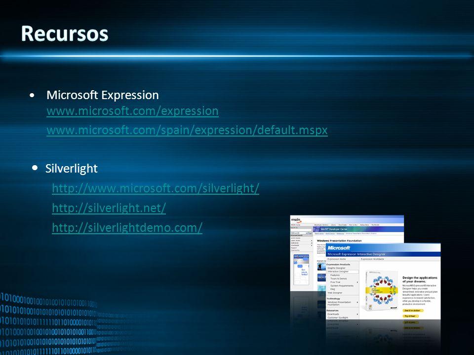 Recursos Microsoft Expression www.microsoft.com/expression