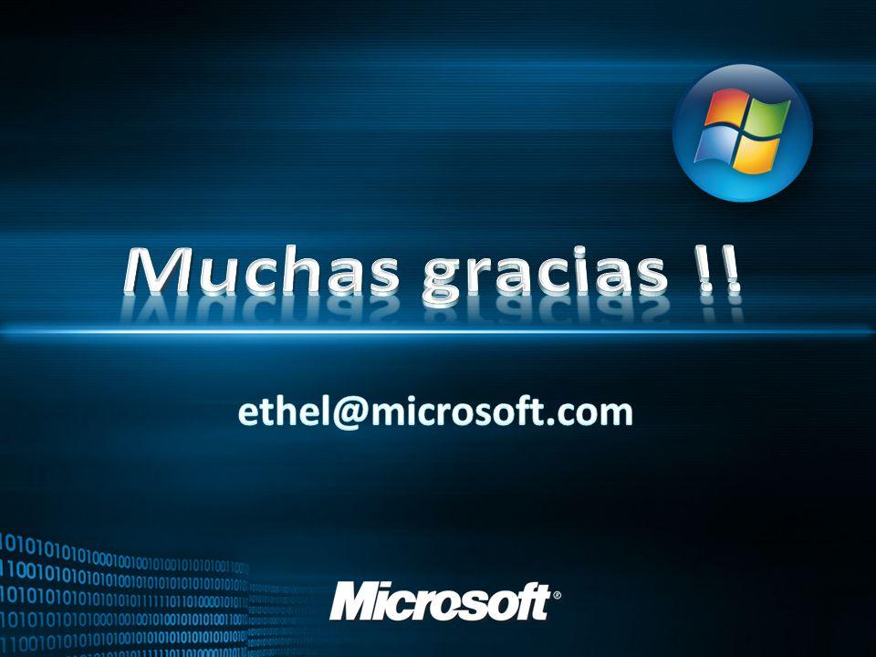 Muchas gracias !! ethel@microsoft.com 28