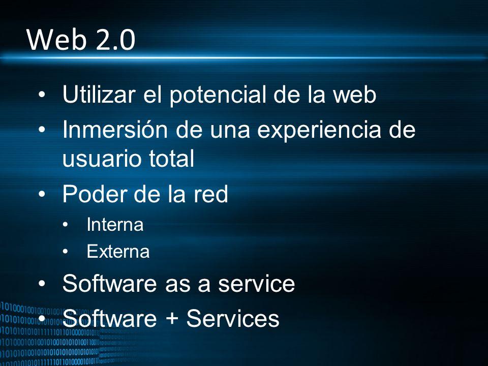 Web 2.0 Utilizar el potencial de la web
