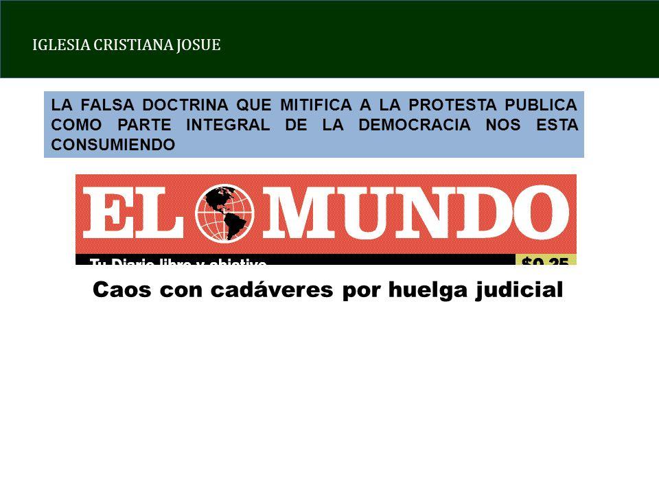 Caos con cadáveres por huelga judicial