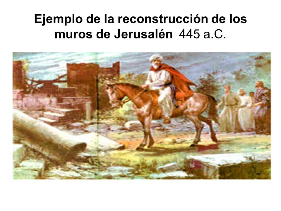 Ejemplo de la reconstrucción de los muros de Jerusalén 445 a.C.