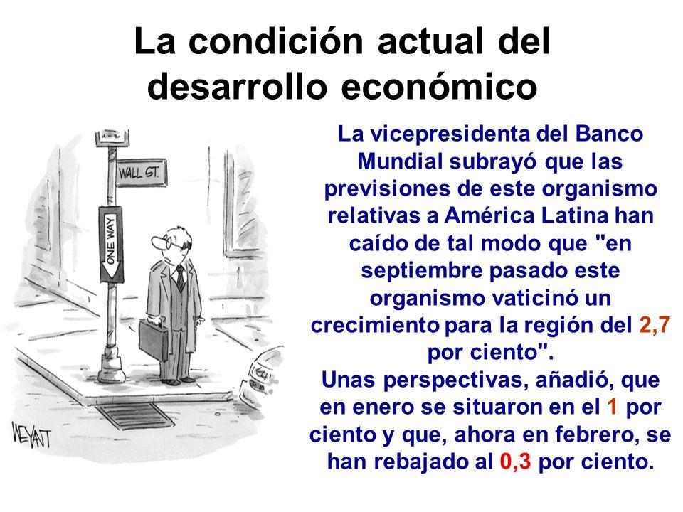 La condición actual del desarrollo económico