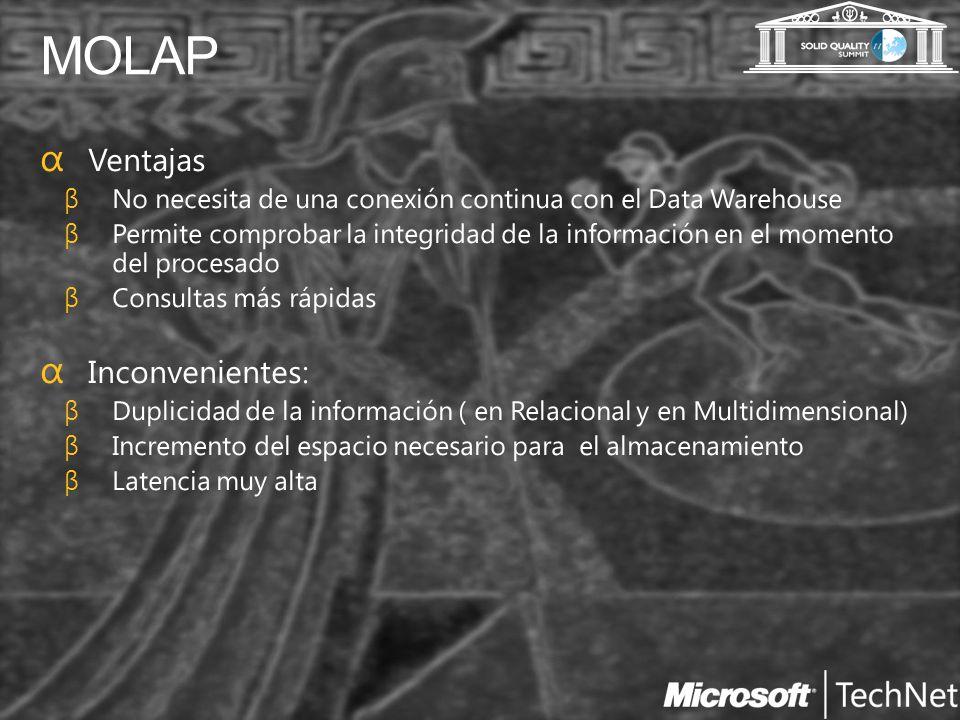 MOLAP Ventajas Inconvenientes: