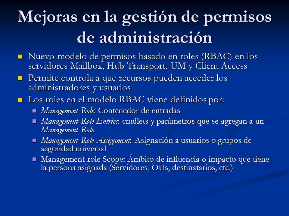 Mejoras en la gestión de permisos de administración