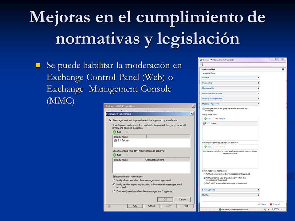 Mejoras en el cumplimiento de normativas y legislación