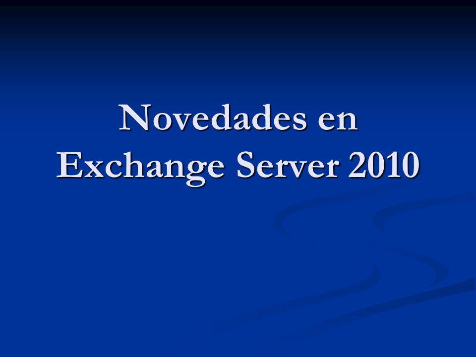 Novedades en Exchange Server 2010
