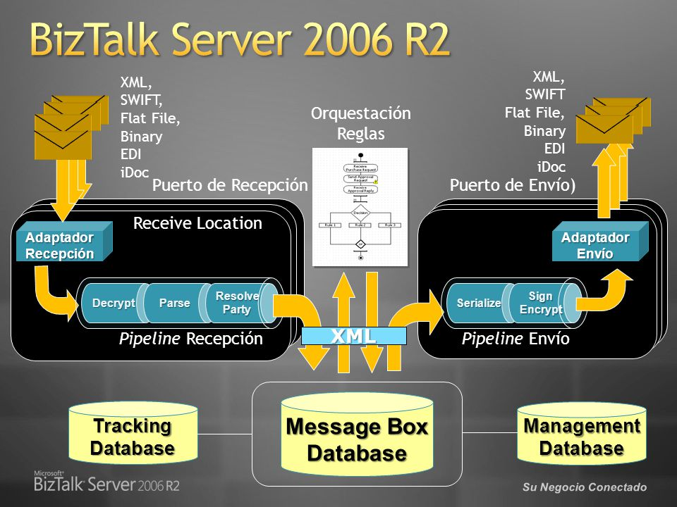BizTalk Server 2006 R2 Message Box Database XML Management Database