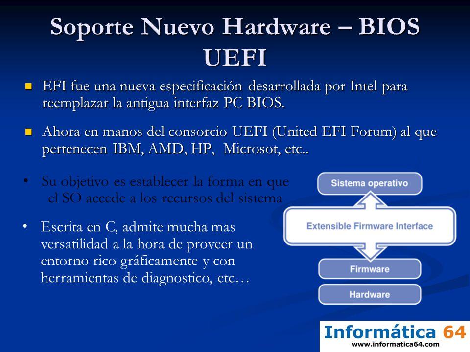Soporte Nuevo Hardware – BIOS UEFI