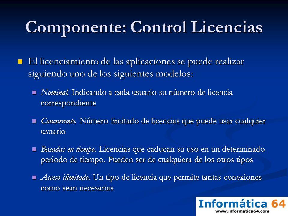 Componente: Control Licencias
