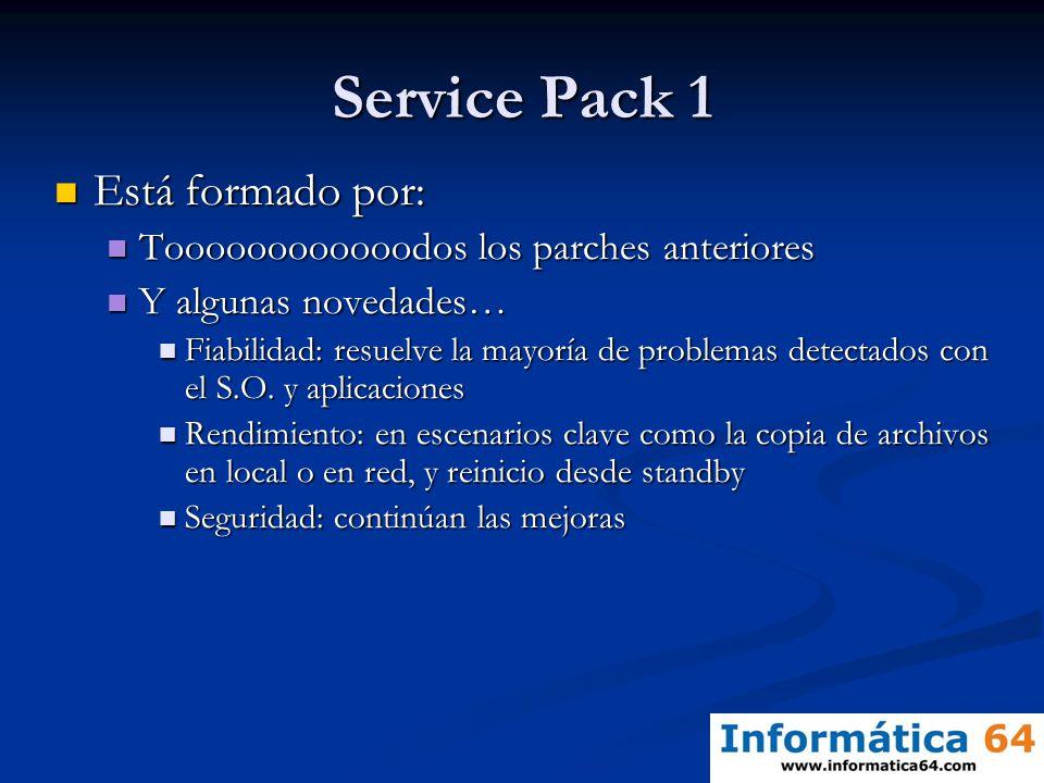 Service Pack 1 Está formado por: