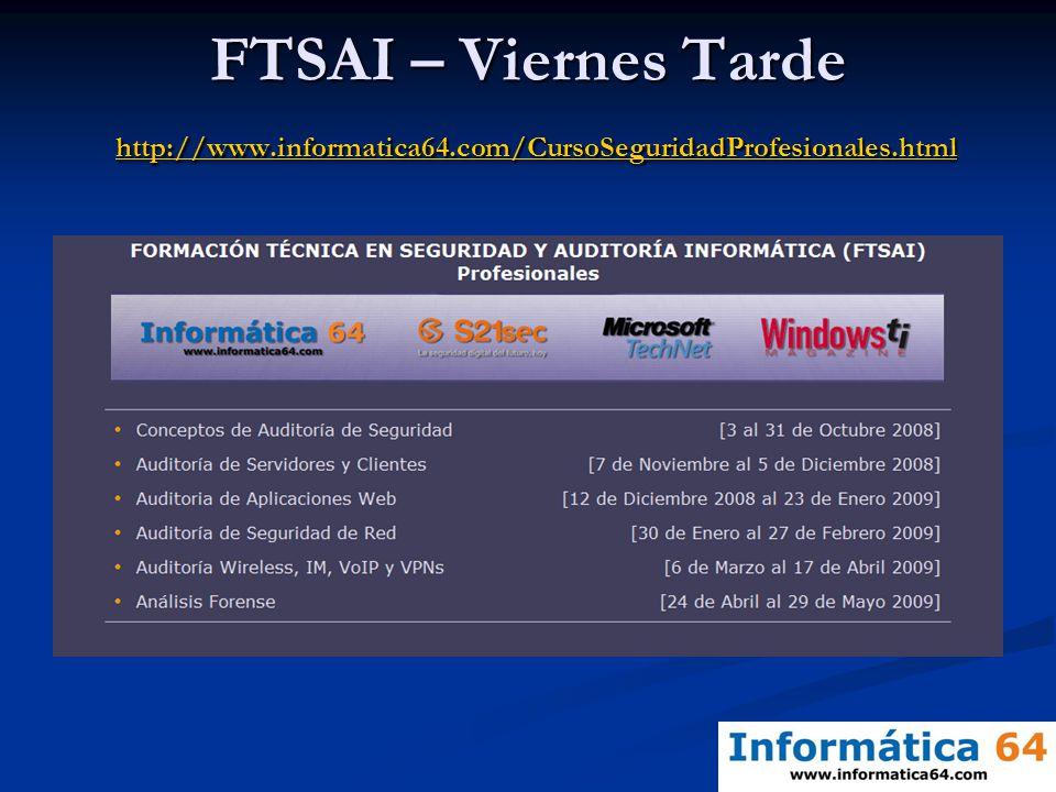 FTSAI – Viernes Tarde http://www. informatica64