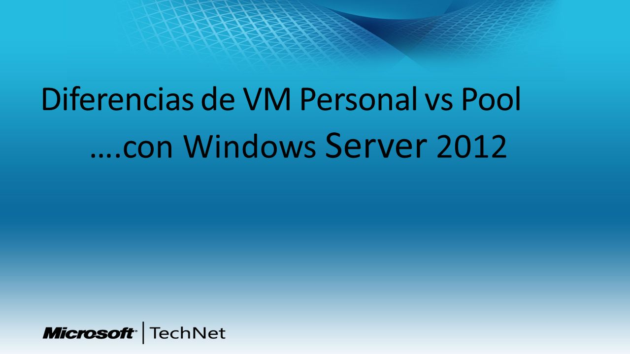 Diferencias de VM Personal vs Pool