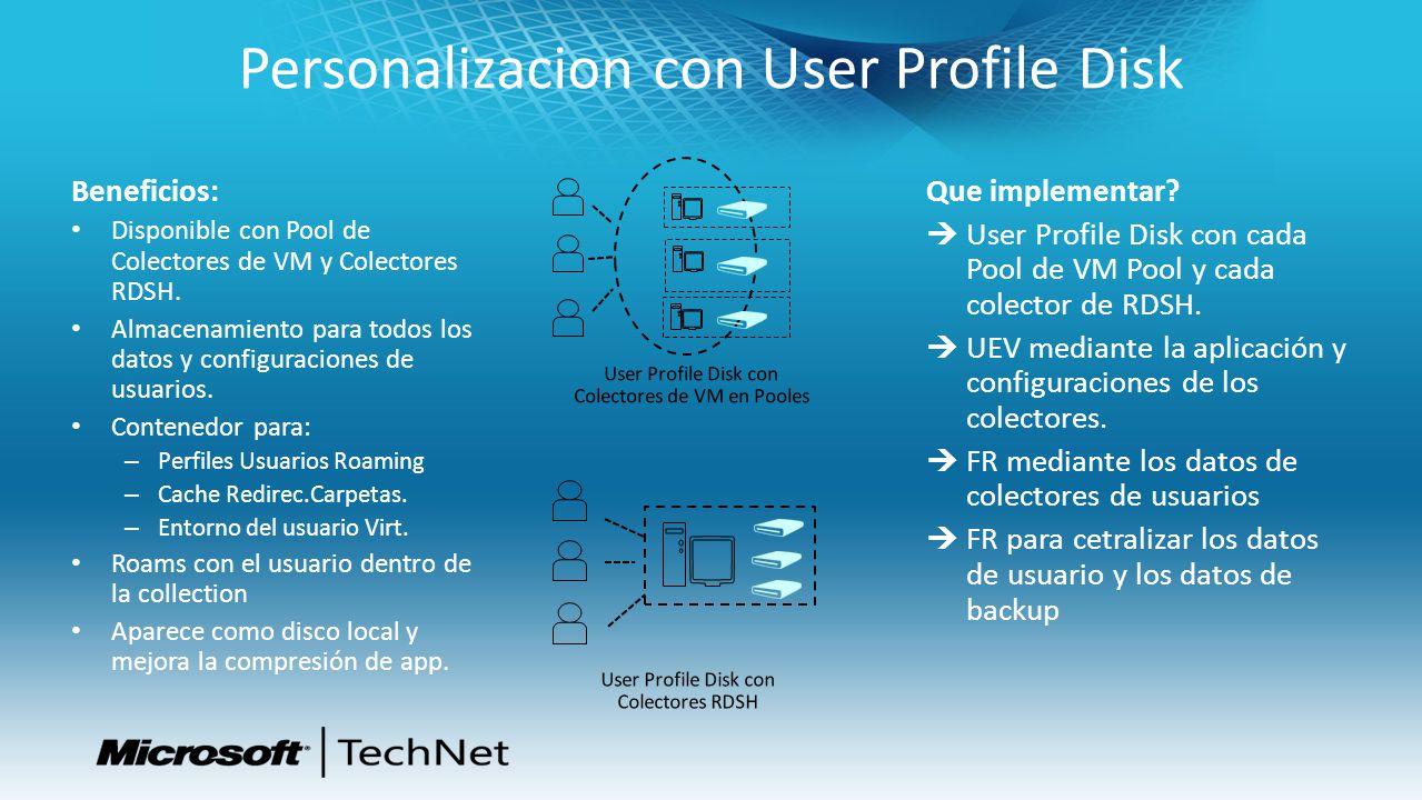 Personalizacion con User Profile Disk
