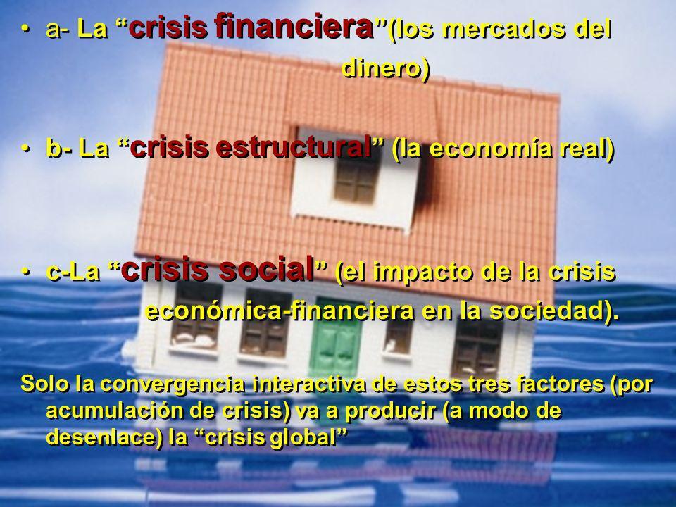 a- La crisis financiera (los mercados del dinero)