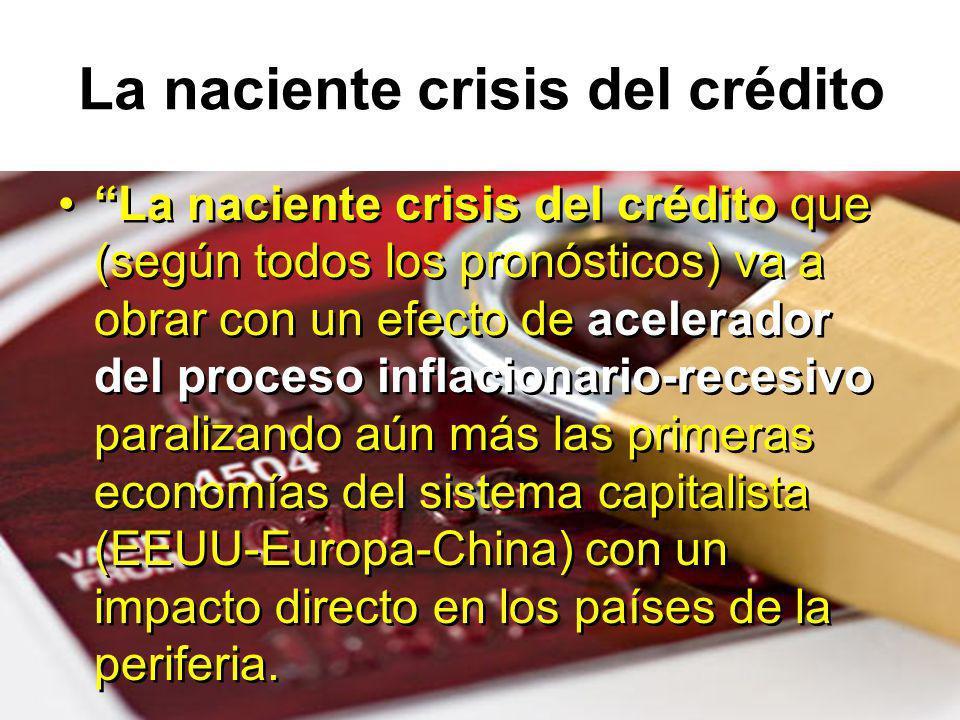 La naciente crisis del crédito