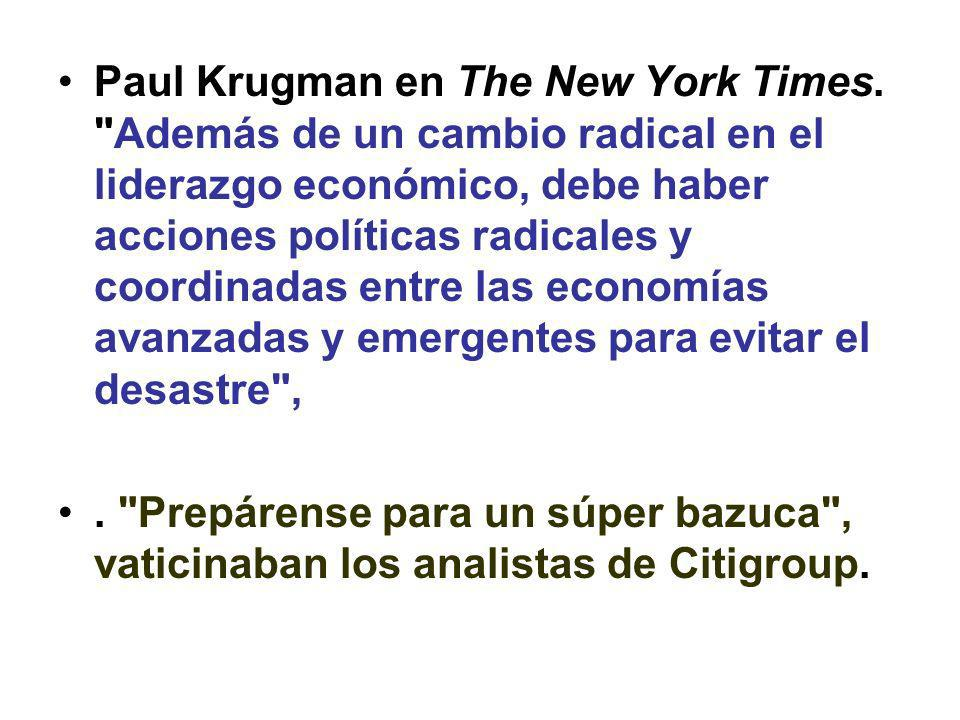 Paul Krugman en The New York Times