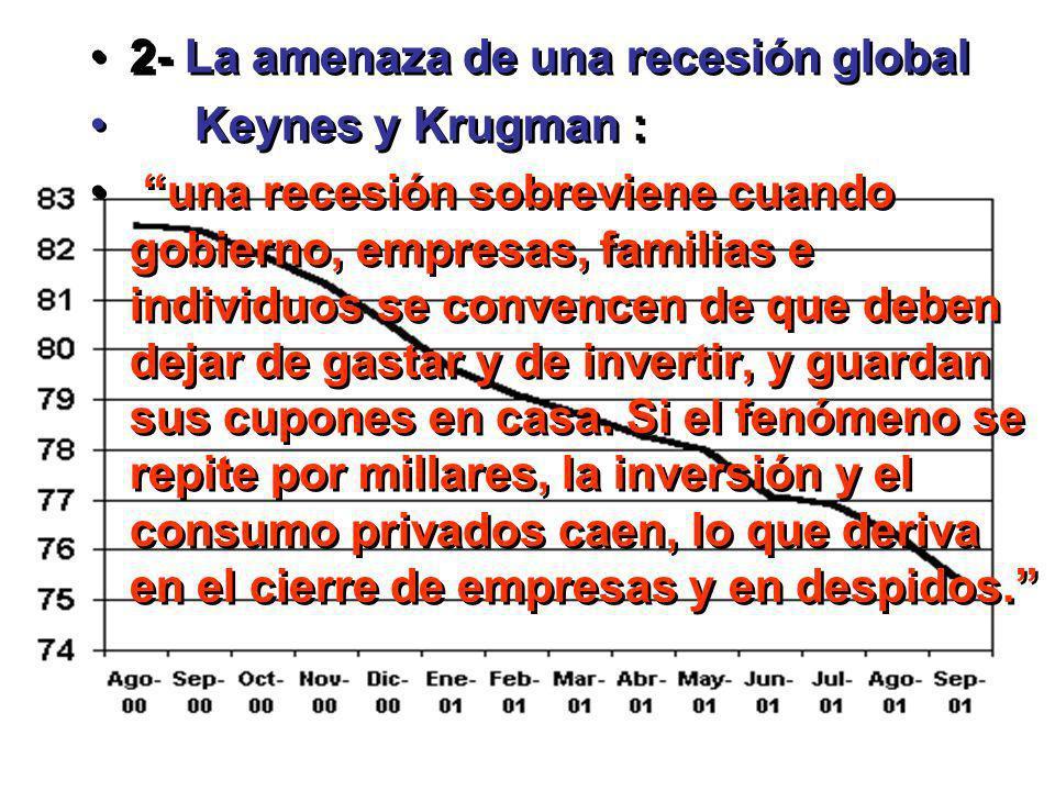 2- La amenaza de una recesión global