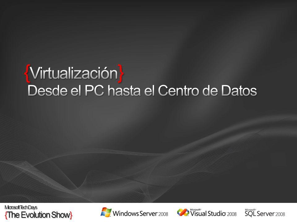 {Virtualización} Desde el PC hasta el Centro de Datos
