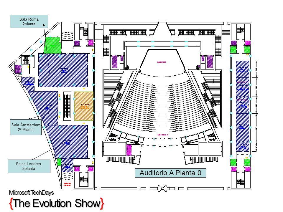 Auditorio A Planta 0 Microsoft TechDays {The Evolution Show} Sala Roma