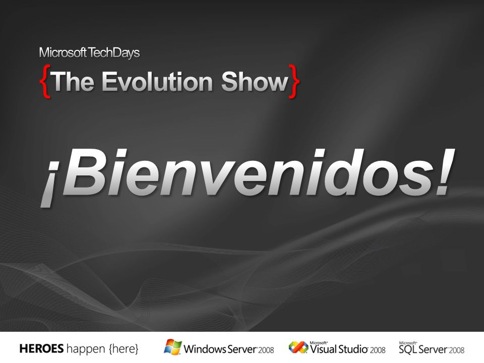 Microsoft TechDays {The Evolution Show}