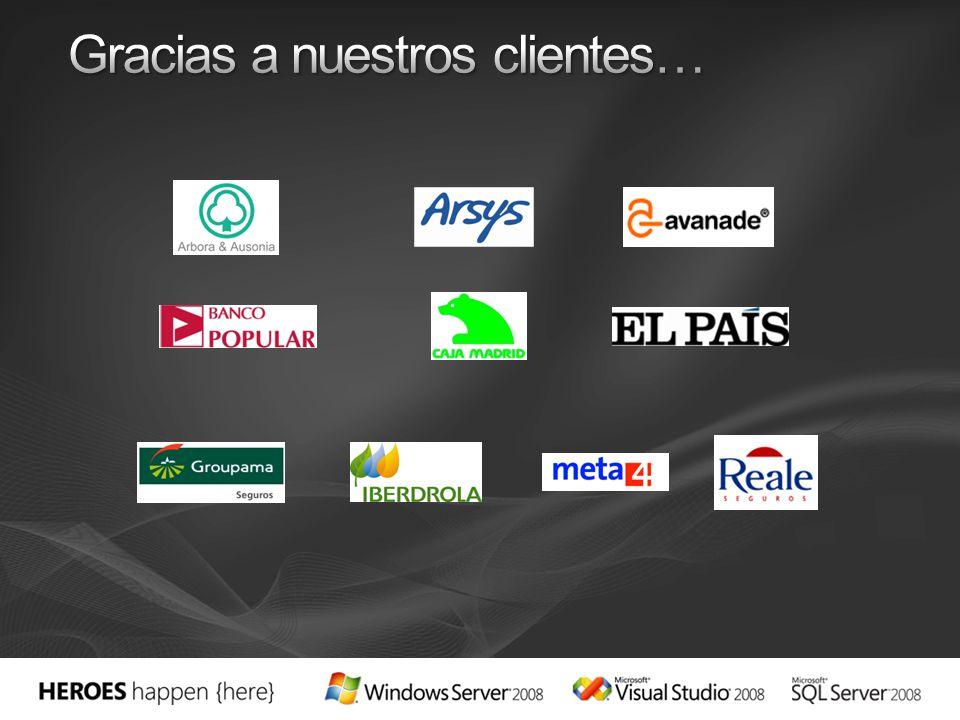 Gracias a nuestros clientes…