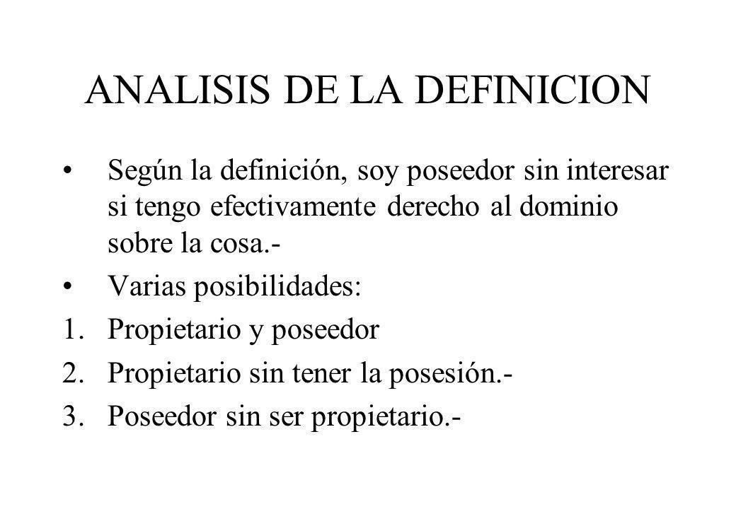 ANALISIS DE LA DEFINICION
