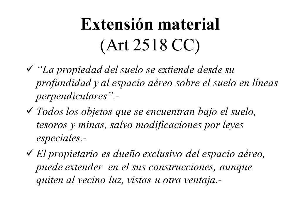 Extensión material (Art 2518 CC)