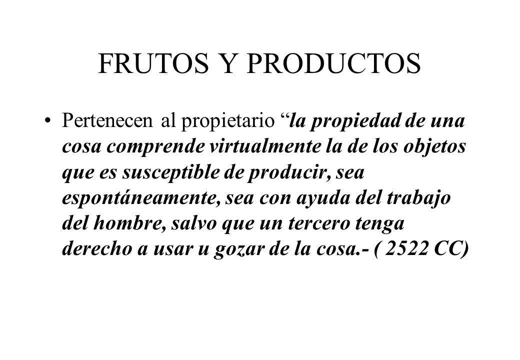 FRUTOS Y PRODUCTOS
