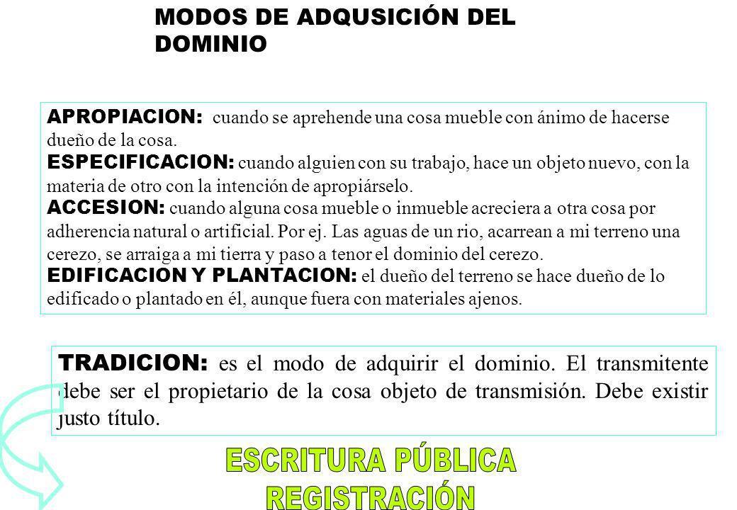 MODOS DE ADQUSICIÓN DEL DOMINIO