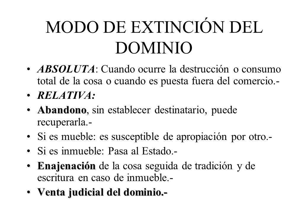 MODO DE EXTINCIÓN DEL DOMINIO