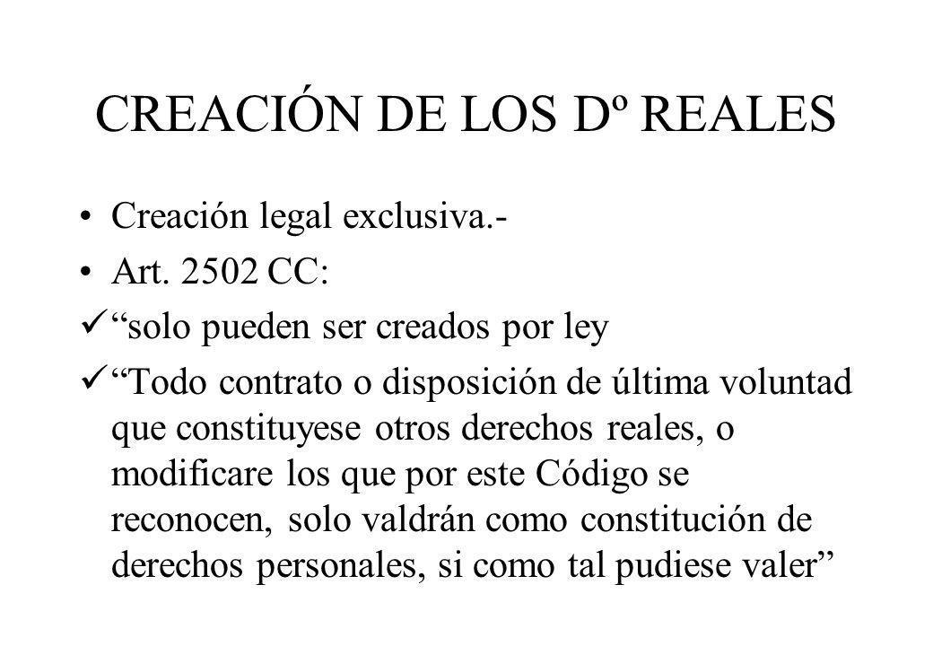 CREACIÓN DE LOS Dº REALES