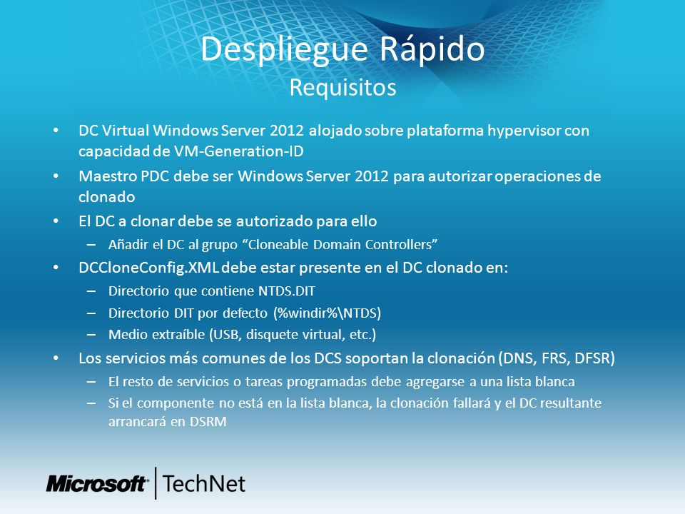 Despliegue Rápido Requisitos