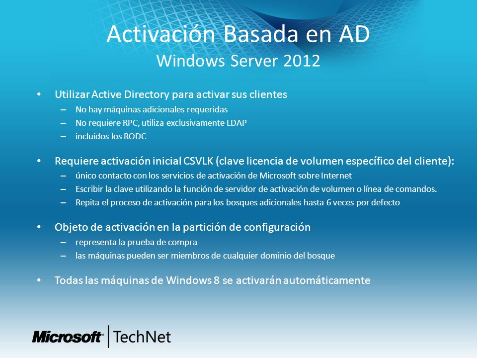 Activación Basada en AD Windows Server 2012