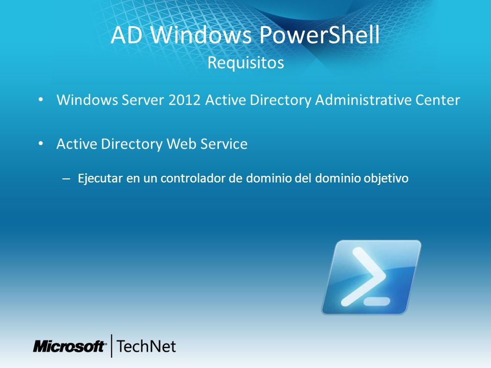AD Windows PowerShell Requisitos
