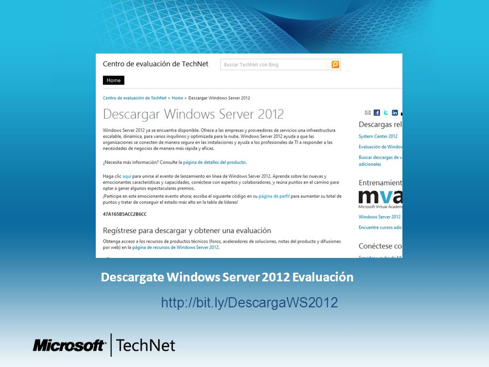 Descargate Windows Server 2012 Evaluación