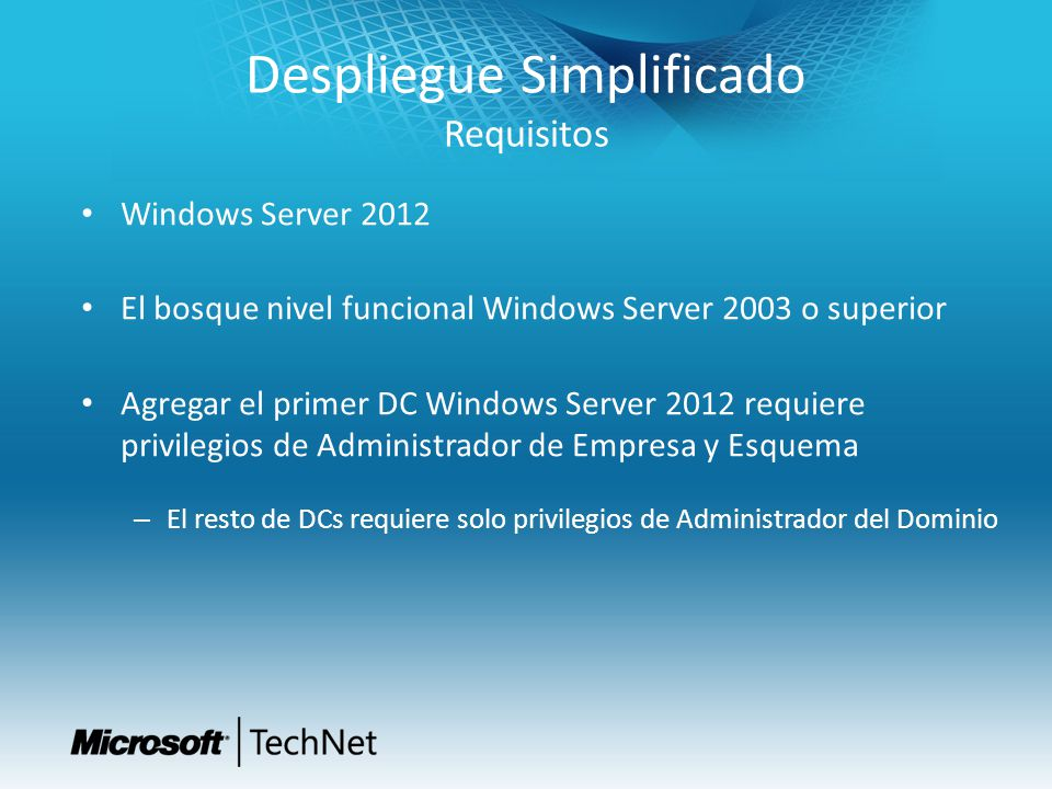 Despliegue Simplificado Requisitos