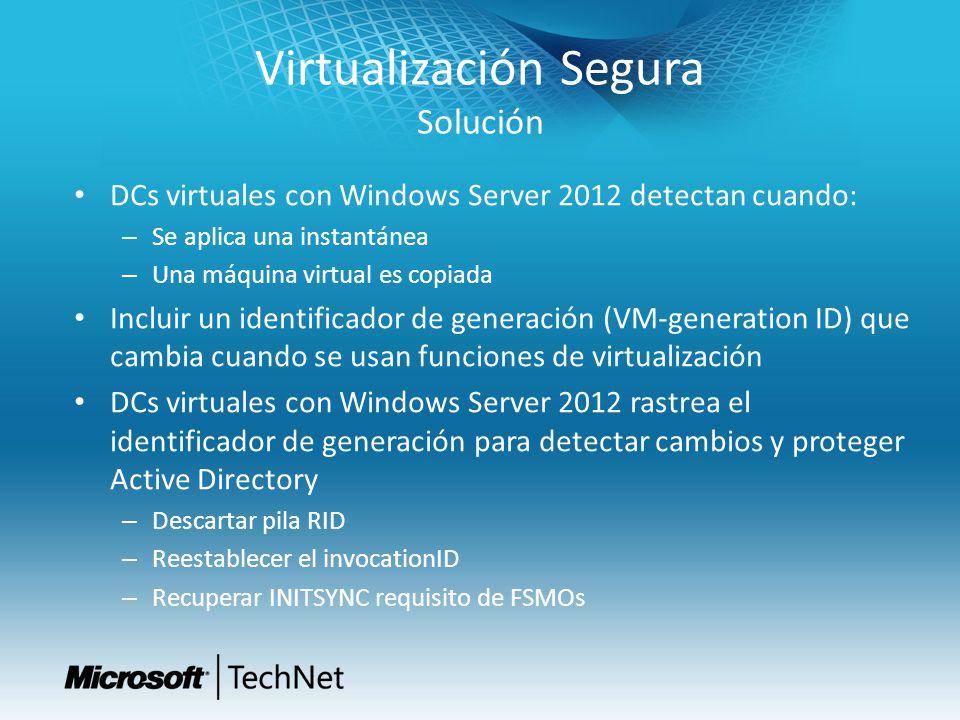 Virtualización Segura Solución