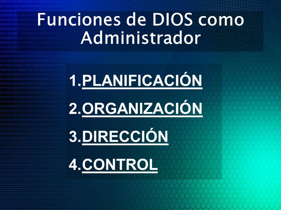 Funciones de DIOS como Administrador
