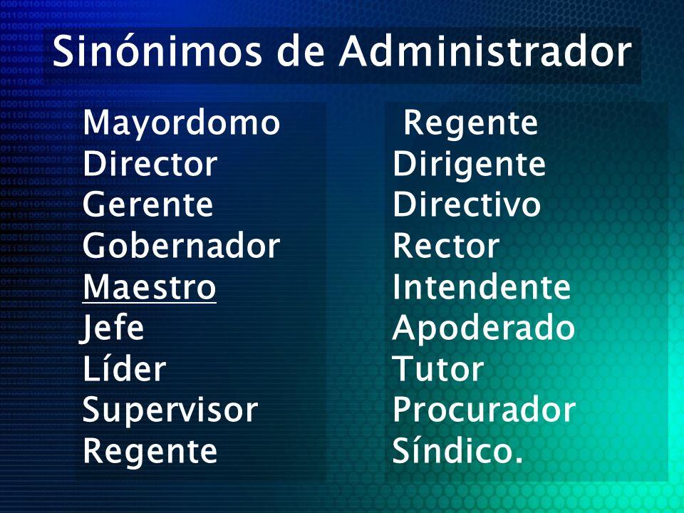 Sinónimos de Administrador