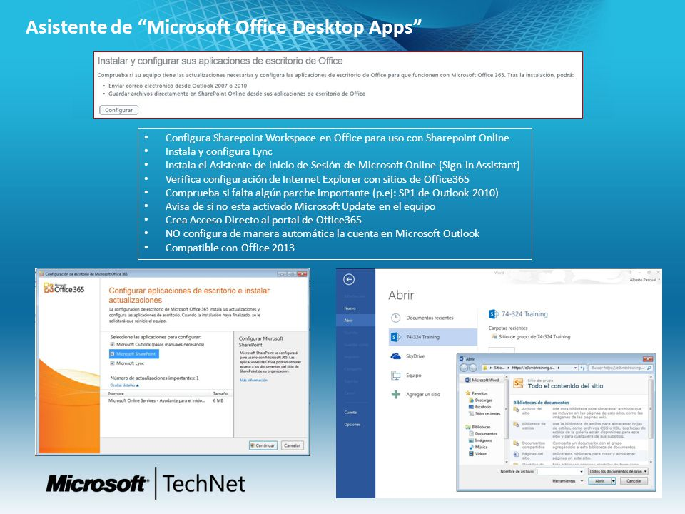 Asistente de Microsoft Office Desktop Apps