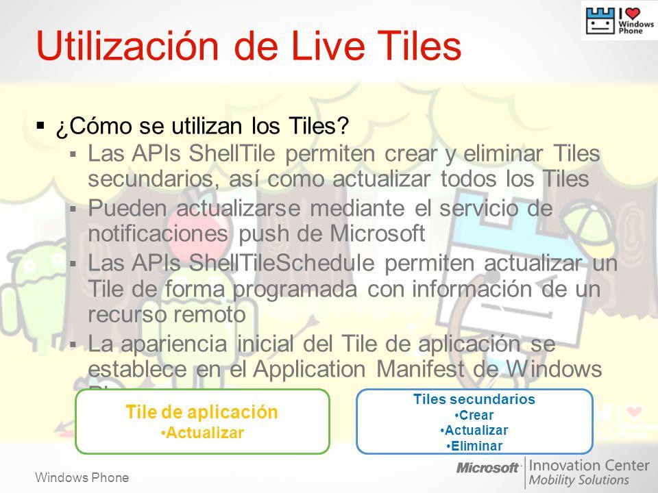 Utilización de Live Tiles