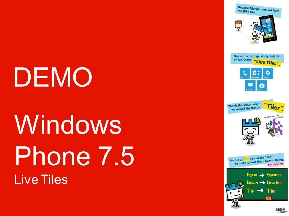 DEMO Windows Phone 7.5 Live Tiles